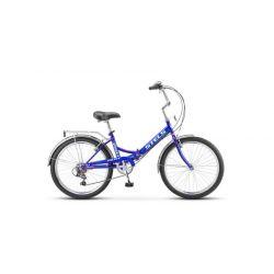 "Складной велосипед Stels Pilot 750 Z010 (2018) Синий 24"""