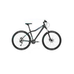 """Женский велосипед Kellys VANITY 70 27.5"""" (2018) Черно-бирюзовый 19"""""""