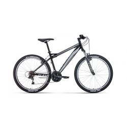 """Горный велосипед Forward Flash 26 1.0 (2020) Черно-серый 15"""""""