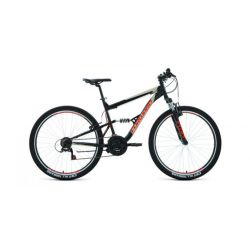 """Двухподвесный велосипед Forward Raptor 27,5 1.0 (2020) Черно-фиолетовый 16"""""""