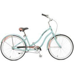 """Женский велосипед Stinger Cruiser Lady 26"""" Зеленый 16.5"""""""