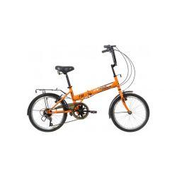 """Велосипед NOVATRACK 20"""" складной, TG 30, оранжевый, 6 скоростей POWER, тормоз V-Brake, багажник, крылья"""