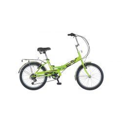 """Велосипед NOVATRACK 20"""" складной, FS30, салатовый, 6 скор.POWER, тормоз 2руч.,AL обод"""