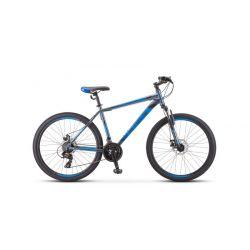 """Горный велосипед Stels Navigator 500 MD F010 Серебристо-синий 18"""""""