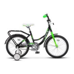 """Детский велосипед Stels Flyte 16"""" Z010 Чёрно-салатовый"""