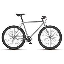 """Велосипед Black One Urban 700 серебристый/черный 21"""""""