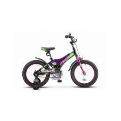 """Детский велосипед Stels Jet 16"""" Z010 Черно-фиолетовый"""