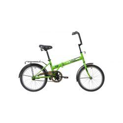 """Велосипед NOVATRACK складной, TG30, 20"""" салатовый (2020)"""