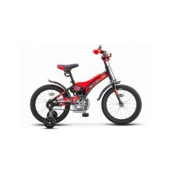 """Детский велосипед Stels Jet 16"""" Z010 Черно-оранжевый"""