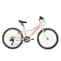 """Велосипед FOXX 24"""" JASMINE белый, стальная рама 12"""","""