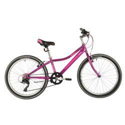 """Велосипед FOXX 24"""" JASMINE фиолетовый, стальная рама 12"""", [CLONE]"""