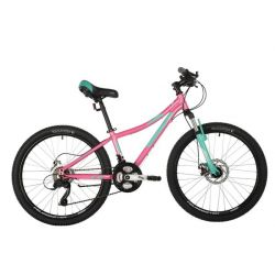 "Велосипед FOXX 24"" CAMELLIA розовый, алюм. рама 12"
