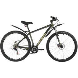 """Велосипед STINGER 29"""" CAIMAN D зеленый, сталь, размер 18"""""""