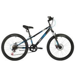 """Велосипед FOXX 24"""" DIFFER, чёрный, сталь.рама 11"""""""