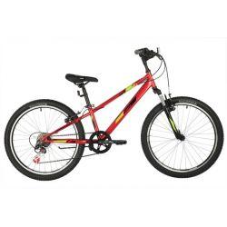 """Велосипед FOXX 24"""" DIFFER, красный, сталь.рама 11"""""""