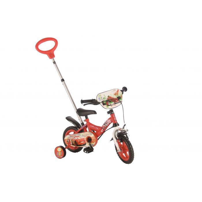 """Велосипед детский для мальчиков Volare (доп.колеса+ручка) - Disney Cars 10"""""""